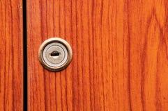 Старые деревянные двери шкафа Стоковое Фото