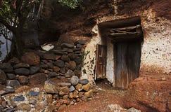 Старые деревянные дверь и окно Стоковые Фотографии RF