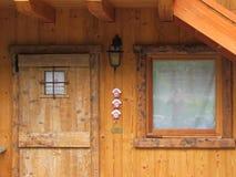 Старые деревянные дверь и окно Стоковое фото RF