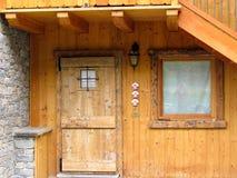 Старые деревянные дверь и окно Стоковые Фото
