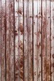 Старые деревянные затрапезные планки в строке Стоковое фото RF