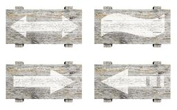 Старые деревянные знаки установленные с стрелками Стоковое Фото