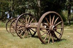 Старые деревянные колеса телеги Стоковые Фото