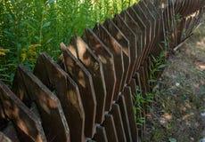 Старые деревянные обнести деревня Стоковое фото RF