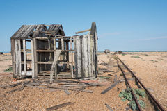 Старые деревянные дом и шлюпка Стоковое фото RF