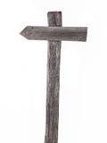 Старые деревянные дорожные знаки, левые изолированные стрелки Стоковое Фото