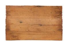 Старые деревянные доски изолированные на белой предпосылке Закройте вверх пустого деревянного знака на белой предпосылке с путем  Стоковые Изображения RF