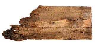 Старые деревянные доски изолированные на белой предпосылке Закройте вверх пустого деревянного знака на белой предпосылке с путем  Стоковая Фотография RF