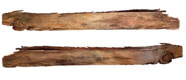 Старые деревянные доски изолированные на белой предпосылке Закройте вверх пустого деревянного знака на белой предпосылке с путем  Стоковое Изображение RF