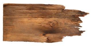 Старые деревянные доски изолированные на белой предпосылке Закройте вверх пустого деревянного знака на белой предпосылке с путем  Стоковые Изображения