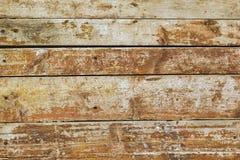 Старые деревянные доски покрашенные в желт-красной Стоковое Фото
