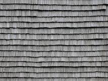 Старые деревянные плитки крыши Стоковое фото RF
