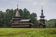 Старые деревянные церков Стоковая Фотография RF