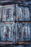 Старые деревянные штарки Стоковое Изображение