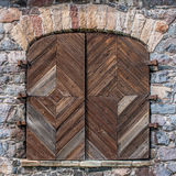 Старые деревянные шторки окна Стоковые Фото