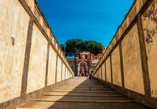 Старые лестницы в Риме Стоковые Изображения