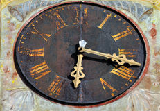 Старые детали башни с часами Стоковые Изображения