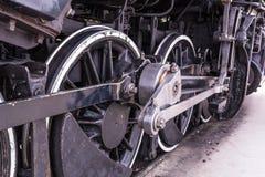 Старые детали поезда пара Стоковые Изображения