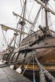 Старые детали galleon корабля в Мейне стоковые фотографии rf