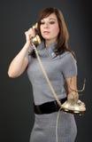 старые женщины телефона стоковые изображения rf