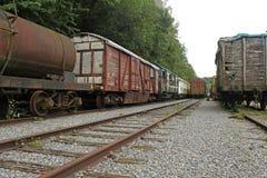 Старые железнодорожные экипажи Стоковые Изображения