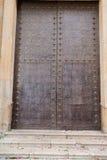 Старые железные двери церков Стоковое Фото