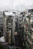 Старые жилые кварталы Макао Китай на дождливый день. Стоковое фото RF