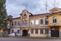 Старые затрапезные здания в центре самары бывшего Куйбышев Стоковые Изображения