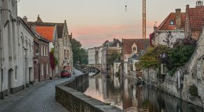 Старые здания в Брюгге, Бельгии стоковое изображение rf