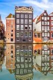 Старые здания в Амстердаме Стоковые Фото