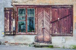 Старые здания в Вильнюсе Стоковое Изображение RF