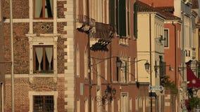 Старые здания в историческом районе Стоковое Изображение RF