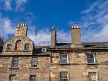 Старые здания вдоль королевской мили, Edinbugh стоковая фотография rf