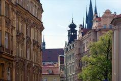 Старые здания в Праге, чехии Стоковые Фотографии RF