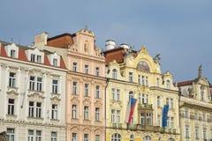 Старые здания в Праге Стоковые Фото