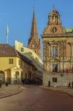 Старые здания в центре Malmo, Швеции Стоковое Изображение