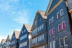 Старые здания в Herborn, Германии стоковая фотография