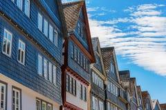 Старые здания в Herborn, Германии стоковые изображения