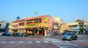 Старые здания в Penang, Малайзии Стоковые Изображения RF