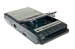 Старые игрок и рекордер кассеты стоковые фотографии rf