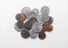 Старые индийские монетки валюты Стоковые Фото