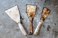 Старые инструменты для красить Стоковое фото RF