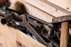 Старые инструменты механика Стоковое Изображение
