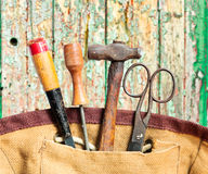 Старые инструменты стоковая фотография rf