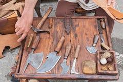 Старые инструменты shoemaker Стоковое Фото