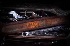 старые инструменты spanners стоковое изображение rf