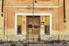 Старые исторические деревянные двери Стоковое Фото