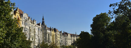 старые исторические фасады Праги Стоковое фото RF