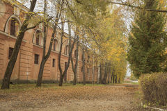 Старые исторические militay здания в Латвии Стоковое фото RF