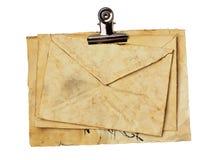 Старые листы конверта и papper закрывают вверх Стоковые Изображения RF